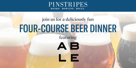 Four-Course Beer Dinner - Pinstripes Edina & Able Beer tickets