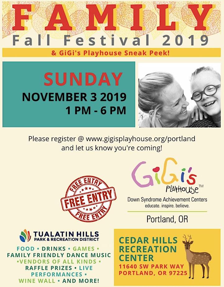 Family Fall Festival and GiGi's Playhouse Sneak Peek! image
