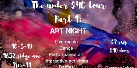 The under $40 tour: Art Night tickets