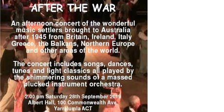 After the War - The Canberra Mandolin Orchestra in Concert tickets