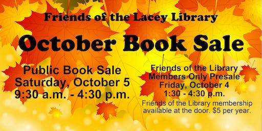 Friends of the Lacey Library October Book Sale
