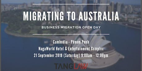 Australia Business and Investment Migration Open Day tickets