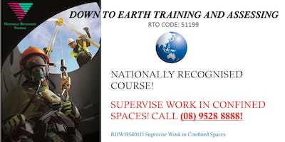 Learn to supervise works in confined spaces!