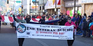 NA2EVS Team - Carry Flag in Auburn Veterans Day Parade...