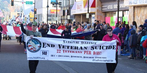 NA2EVS Parade Team - Carry Flag in Auburn Veterans Day Parade