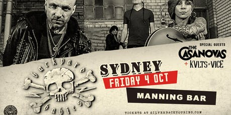 Backyard Babies - Sydney - KVLTS OF VICE support discounted tickets tickets