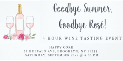 INTERACTIVE WINE TASTING & PAIRING @ HAPPY CORK BROOKLYN