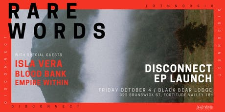 Rare Words 'Disconnect' EP Launch tickets
