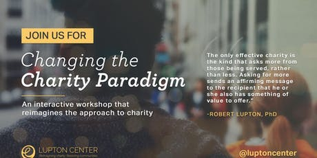 Changing the Charity Paradigm Workshop tickets