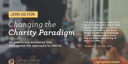 Changing the Charity Paradigm Workshop