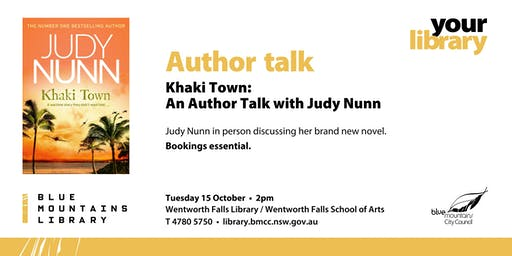 Khaki Town: an Author Talk with Judy Nunn