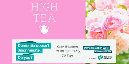 High Tea for people with Dementia, carers, family & friends