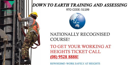 Learn to work at heights!