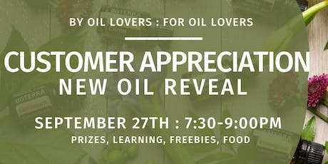 Customer Appreciation and New Oil Reveal: doTERRA tickets