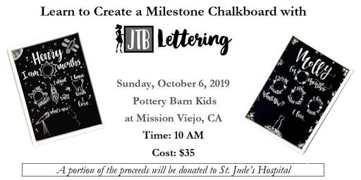 Create a Milestone Chalkboard with  JTB Lettering