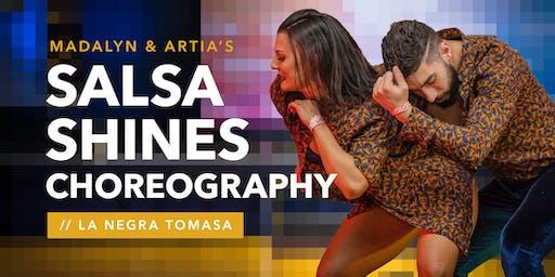 Learn Artia & Madalyn's Salsa Shines routine La Negra Tomasa