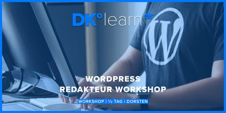 Wordpress Redakteur Workshop Tickets