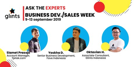 Glints Ask Experts : Business Development and Sales Week tickets