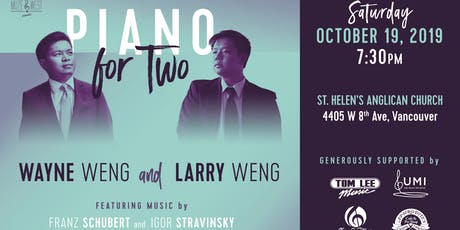 Piano for Two! Wayne Weng and Larry Weng in Concert tickets