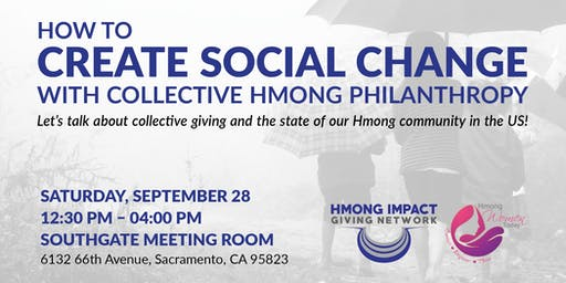 How to Create Social Change with Collective Hmong Philanthropy