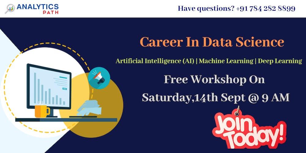 Register For Data Science Workshop On Sat,14th Sept @ 9 am
