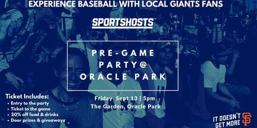 Pre-Game Party with Giants fans and newbies inside the stadium