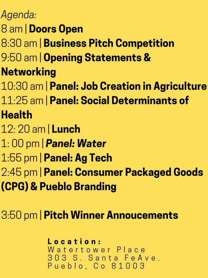 Food & Ag Summit - Agenda