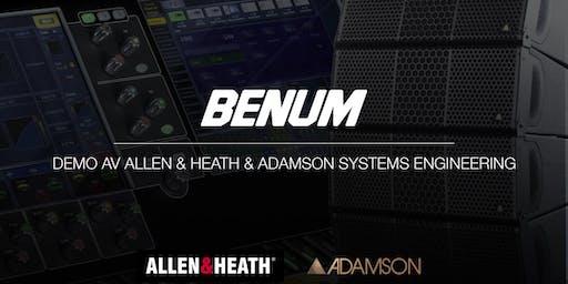 BENUM AB - Demo av Allen & Heath samt Adamson Systems - HALMSTAD