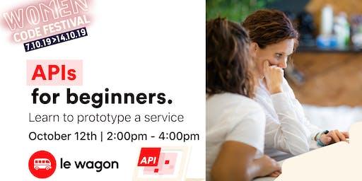 API for Beginners x Women code Festival