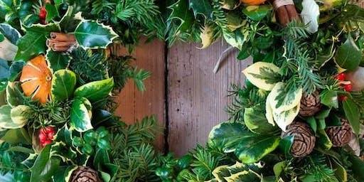 Christmas Door Wreath Making Workshop - Covent Garden