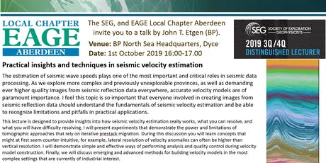 SEG/EAGE Aberdeen Local Chapter Lecture tickets