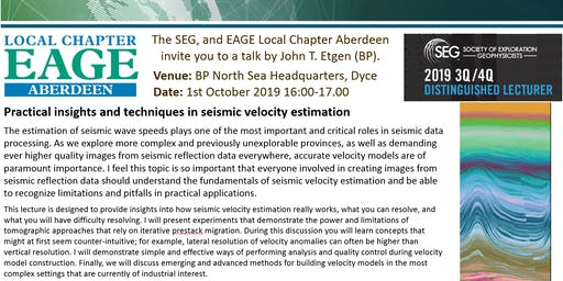 SEG/EAGE Aberdeen Local Chapter Lecture