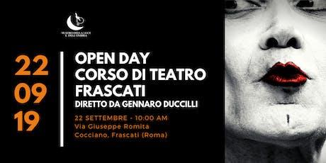 OPEN DAY Corso di Teatro Gennaro Duccilli a Frascati biglietti