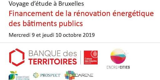 """Voyage d'étude à Bruxelles - 9-10 octobre 2019 - """"Financement de la rénovation énergétique des bâtiments publics"""""""