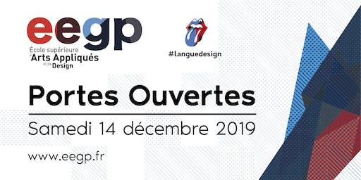 Portes Ouvertes EEGP l'école supérieure d'arts appliqués et de design 14 décembre 2019