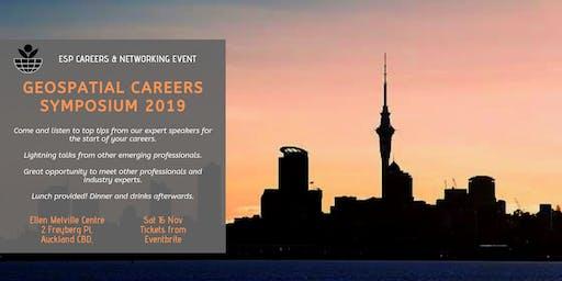 ESP Geospatial Careers Symposium 2019 - Auckland