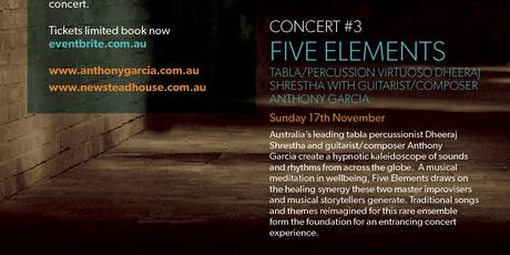 THE CELLAR SERIES Concert #3 FIVE ELEMENTS tickets