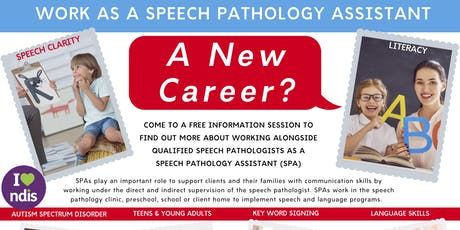ERINA: Free Career Info Session: Work as a Speech Pathology Assistant tickets