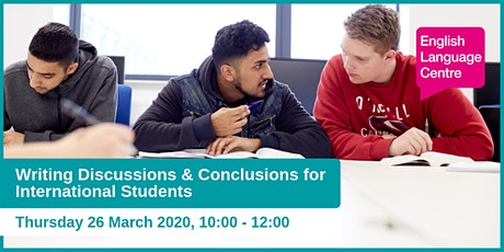 Writing Discussions & Conclusions for International Students  tickets