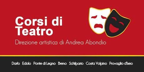 Prenota la tua lezione regalo - Corso di Teatro a Costa Volpino biglietti