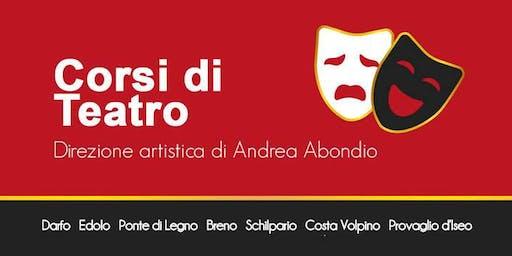 Prenota la tua lezione regalo - Corso di Teatro a Costa Volpino