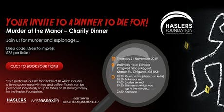 Murder at the Manor – Charity Dinner tickets