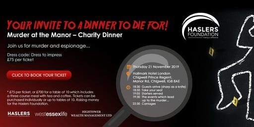 Murder at the Manor – Charity Dinner