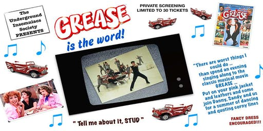 Grease Sing and Quote Along Night