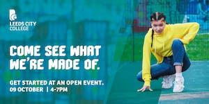 Leeds City College Open Day 9 October