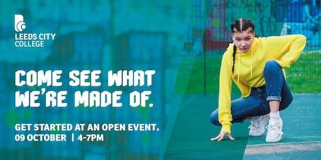 Leeds City College Open Day 9 October tickets
