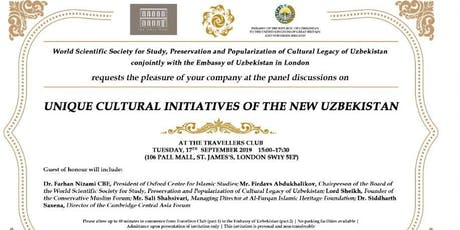 Media Event by Uzbek Embassy and WSS for study of Uzbek Cultural Legacy tickets