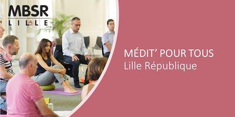 MBSR-Lille : Médit' pour tous (Jeudi après-midi à Lille Centre) tickets