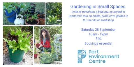 Gardening in small spaces workshop tickets