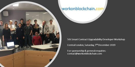 Ethereum smart contract upgradability workshop for software developers tickets